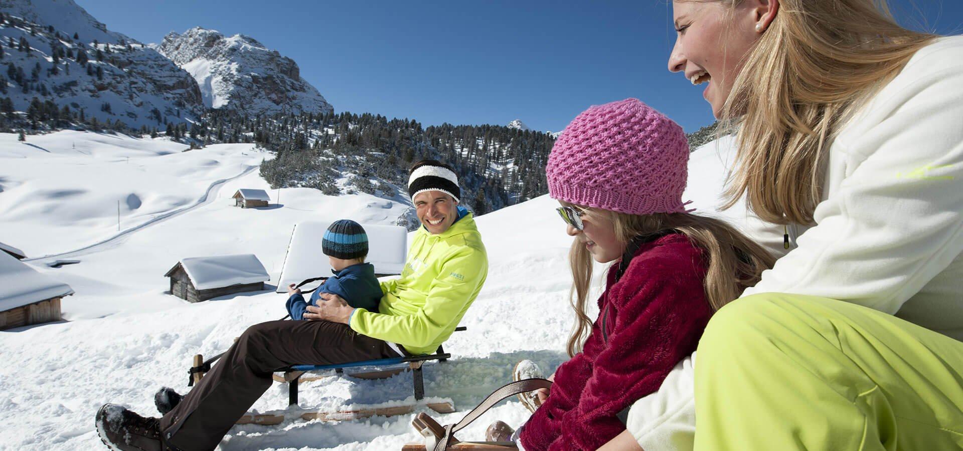 Langlaufen, Rodeln, Skitouren, Schneeschuhwandern in Südtirol