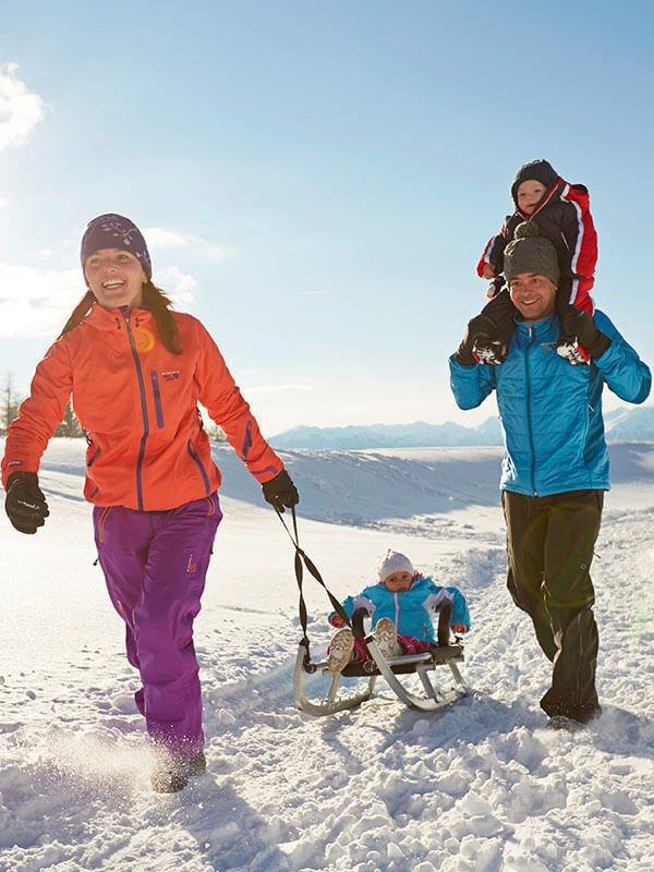 Slittino sul Plan de Corones| Inverno e divertimento al Fuchshof in Alto Adige